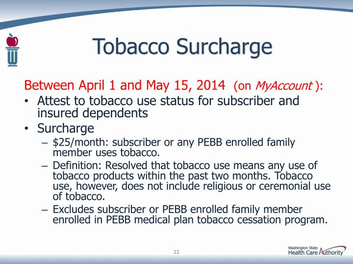 Tobacco Surcharge
