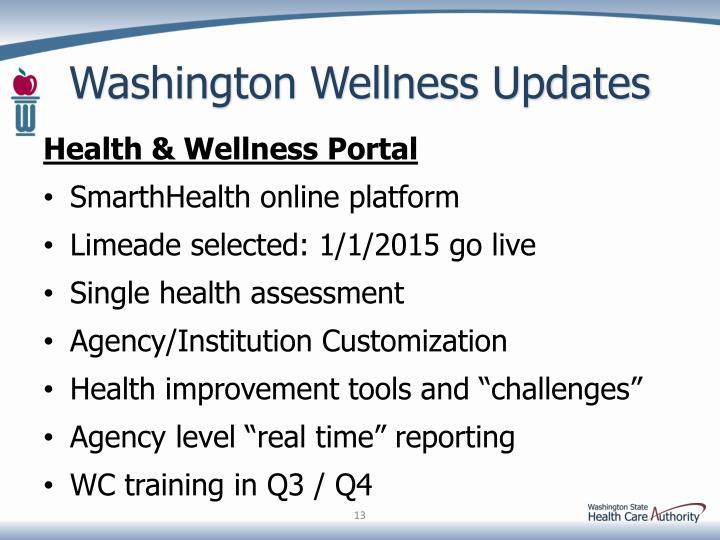 Washington Wellness Updates