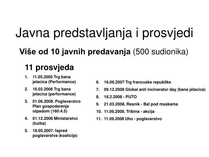 Više od 10 javnih predavanja