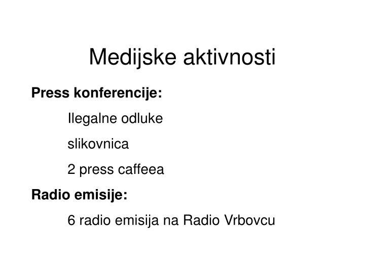 Press konferencije:
