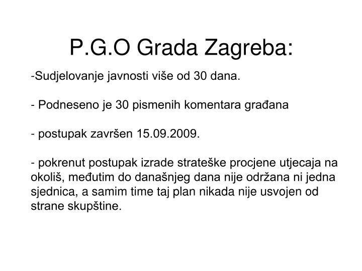 P.G.O Grada Zagreba: