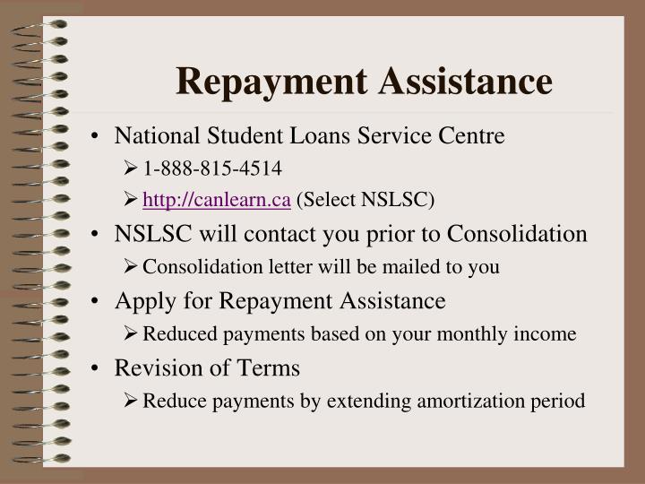 Repayment Assistance