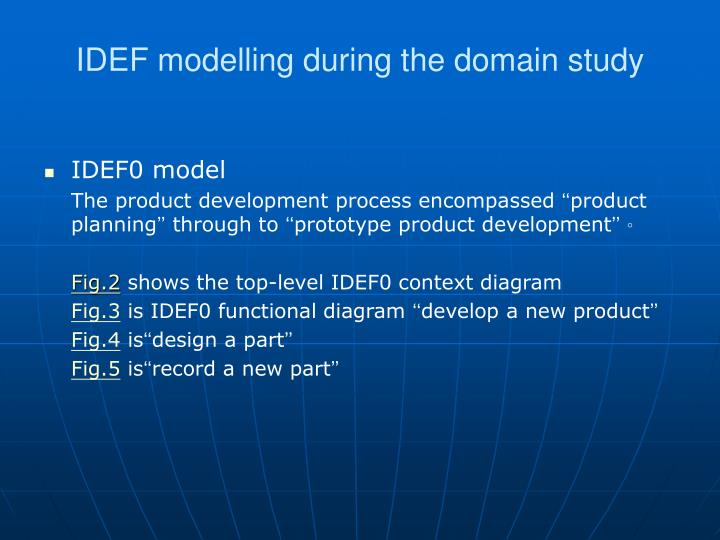 IDEF modelling during the domain study