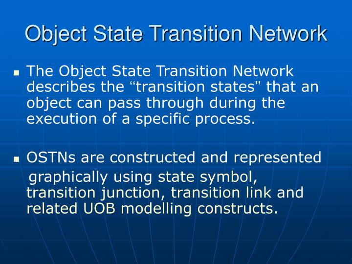 Object State Transition Network