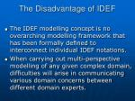 the disadvantage of idef