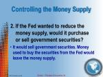 controlling the money supply6
