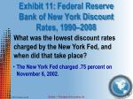 exhibit 11 federal reserve bank of new york discount rates 1990 2008