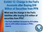 exhibit 12 change in the fed s accounts after buying 10 million of securities from pfn