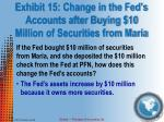 exhibit 15 change in the fed s accounts after buying 10 million of securities from maria