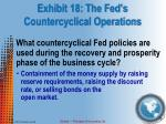 exhibit 18 the fed s countercyclical operations