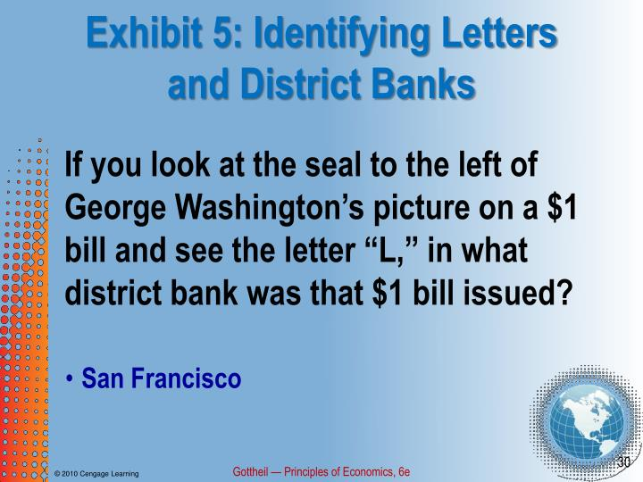 Exhibit 5: Identifying Letters and District Banks