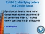 exhibit 5 identifying letters and district banks
