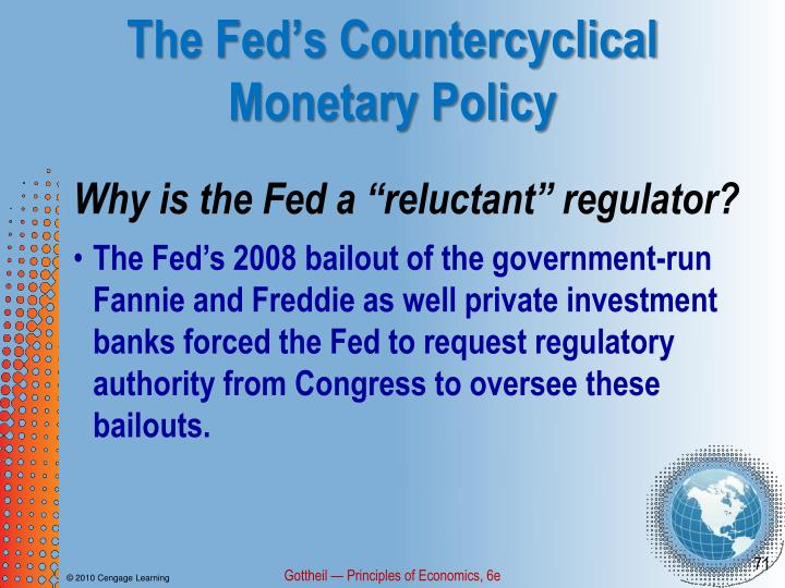 The Fed's Countercyclical