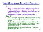 identification of baseline scenario1