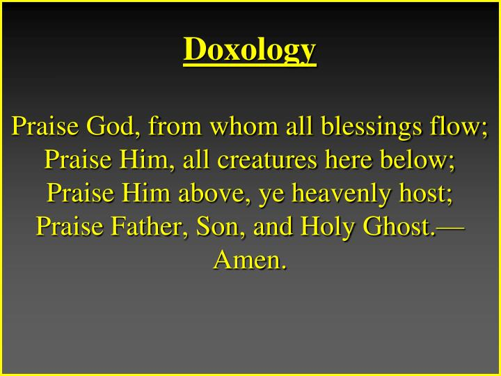Doxology