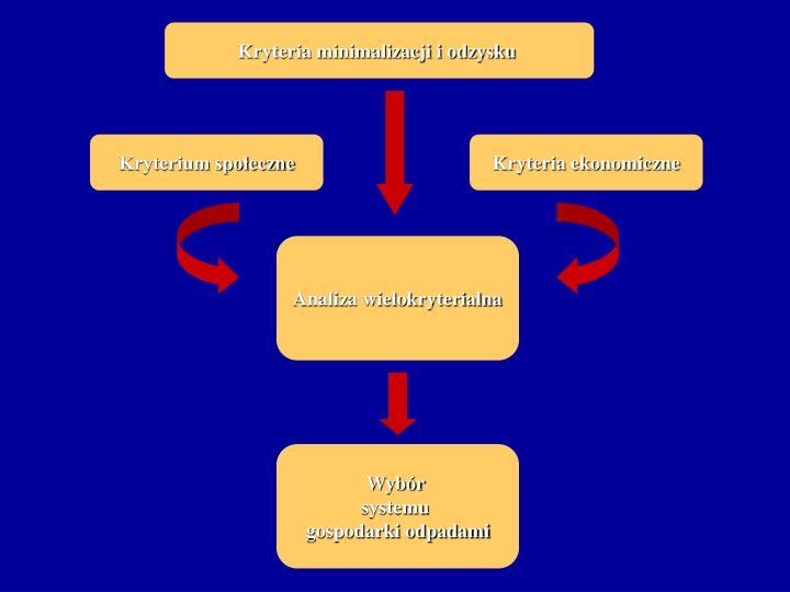 Kryteria minimalizacji i odzysku