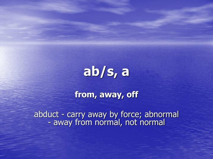 ab/s, a