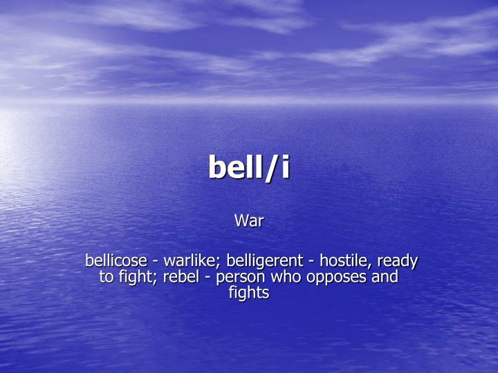 bell/i