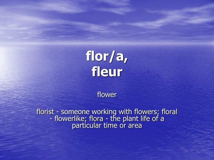 flor/a,