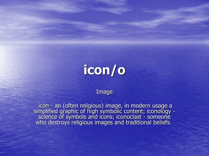 icon/o