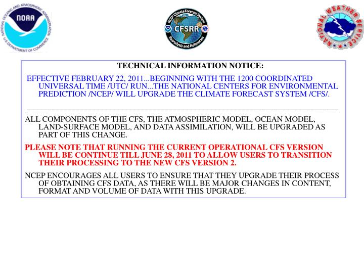 TECHNICAL INFORMATION NOTICE: