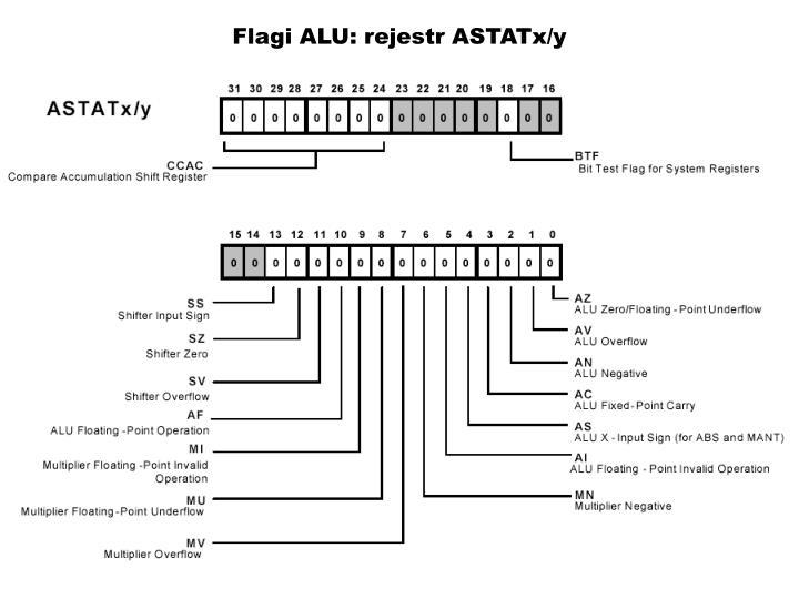Flagi ALU: rejestr ASTATx/y