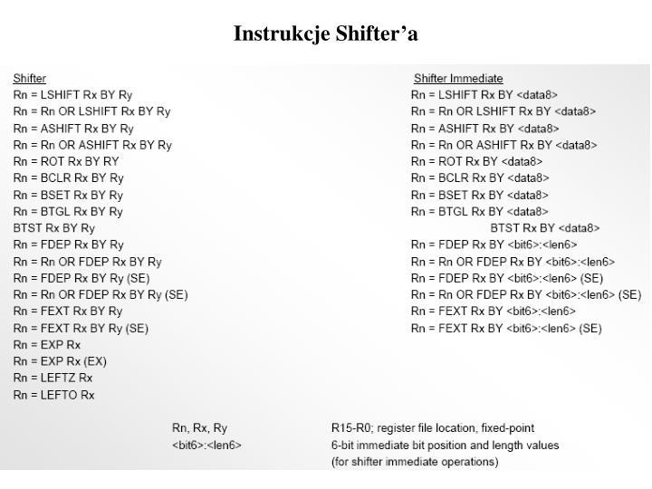 Instrukcje Shifter'a