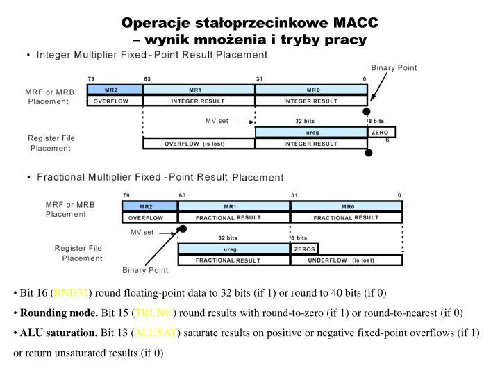 Operacje stałoprzecinkowe MACC