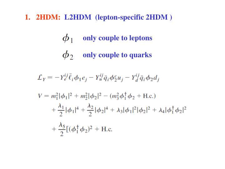 1.   2HDM: