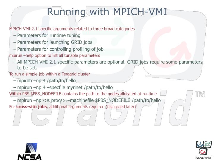 Running with MPICH-VMI