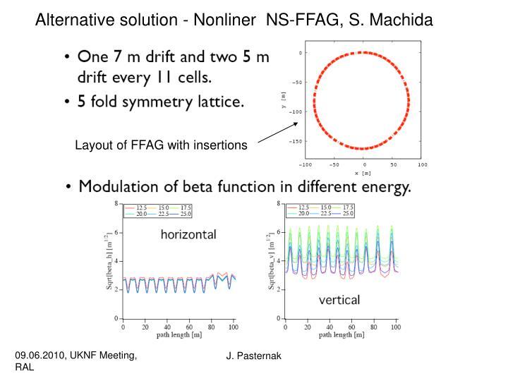 Alternative solution - Nonliner  NS-FFAG, S. Machida