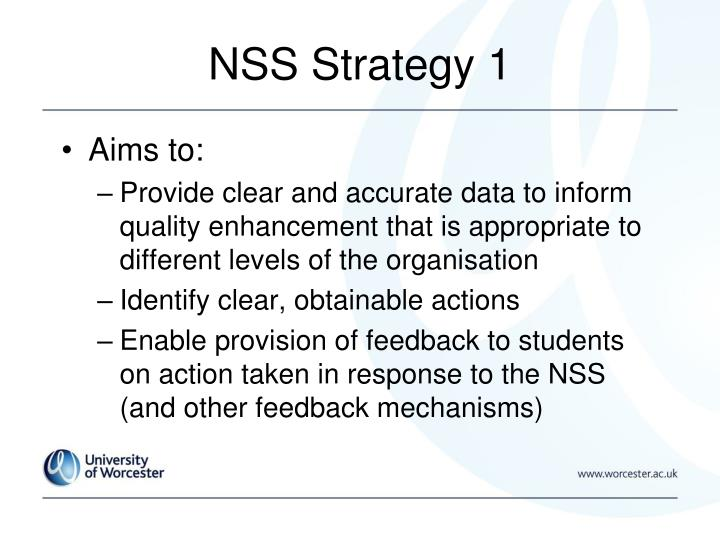 NSS Strategy 1