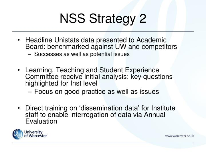 NSS Strategy 2