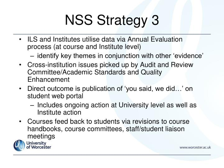 NSS Strategy 3