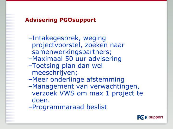 Advisering PGOsupport