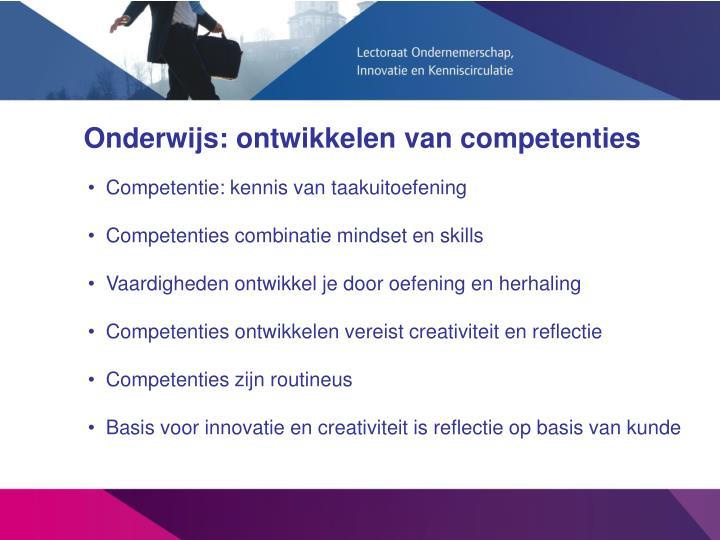 Onderwijs: ontwikkelen van competenties