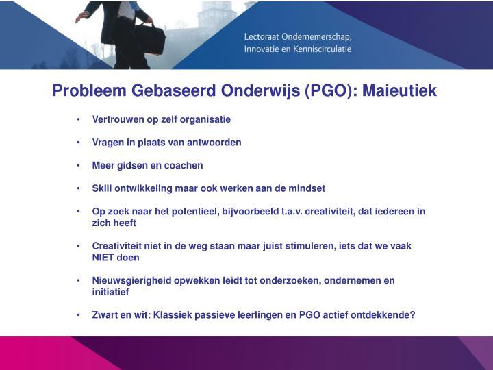 Probleem Gebaseerd Onderwijs (PGO): Maieutiek