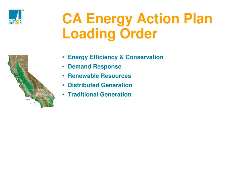 CA Energy Action Plan Loading Order
