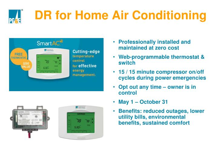 DR for Home Air Conditioning