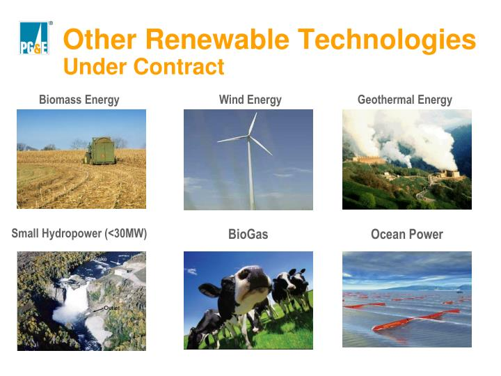 Other Renewable Technologies