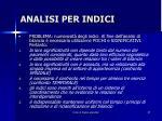 analisi per indici1