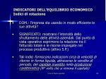 indicatori dell equilibrio economico indici di rotazione