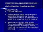indicatori dell equilibrio monetario indici di liquidit e di capitale circolante3
