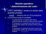 rischio operativo determinazione dei costi1