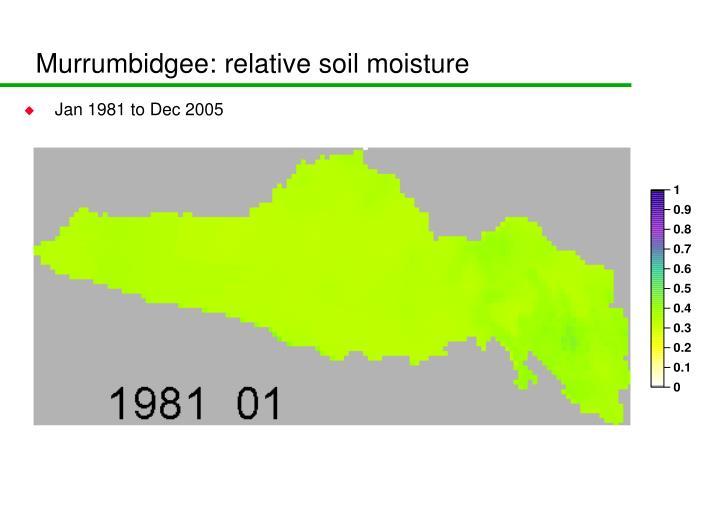 Murrumbidgee: relative soil moisture