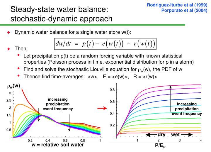 Steady-state water balance: