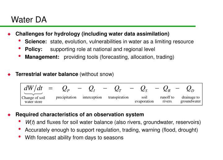 Water DA