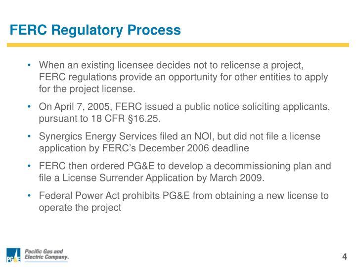 FERC Regulatory Process