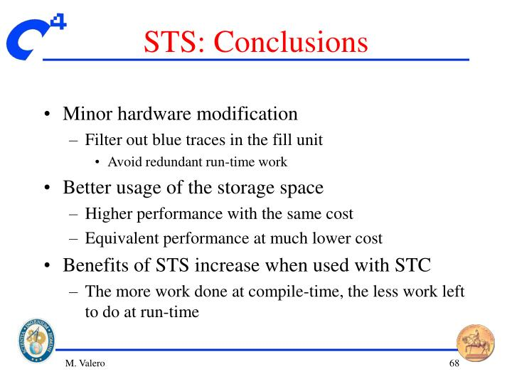 STS: Conclusions