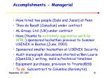 accomplishments managerial